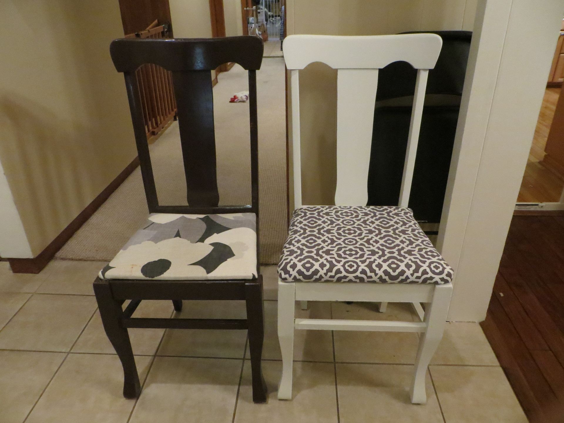 Before and After Dining Room Chairs - SOLD