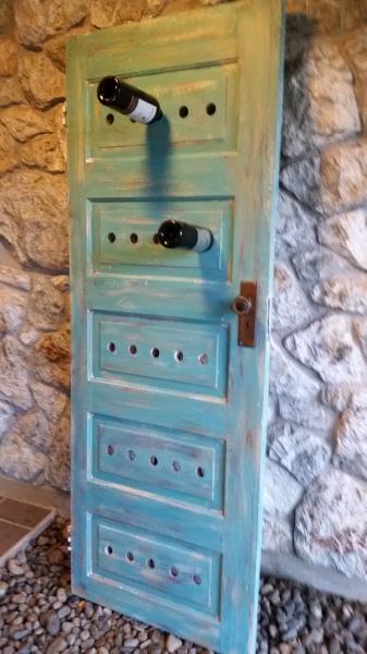 Old Door Wine Rack - SOLD