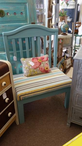 Crib Bench (soft blue) - SOLD