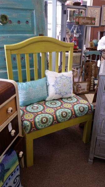 Crib Bench (chartruese) - SOLD