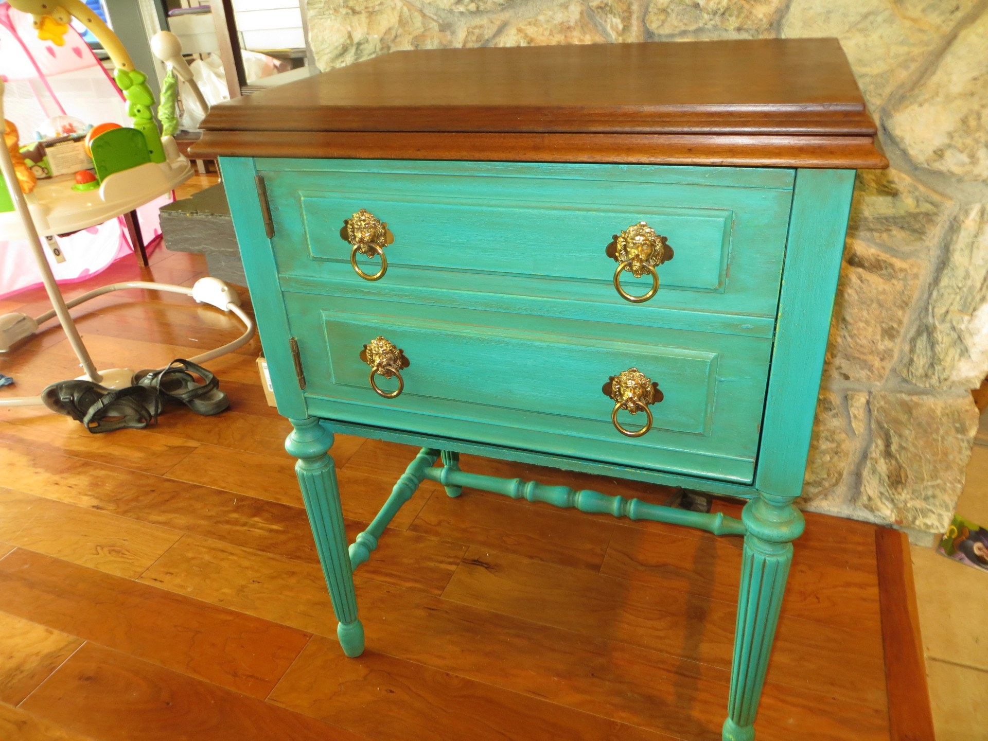 Upcycled Sewing Machine Table - SOLD
