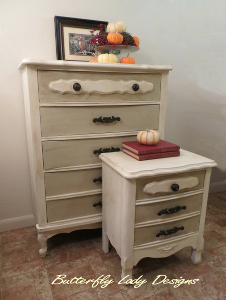 French Provencial Dresser and Nightstand - SOLD