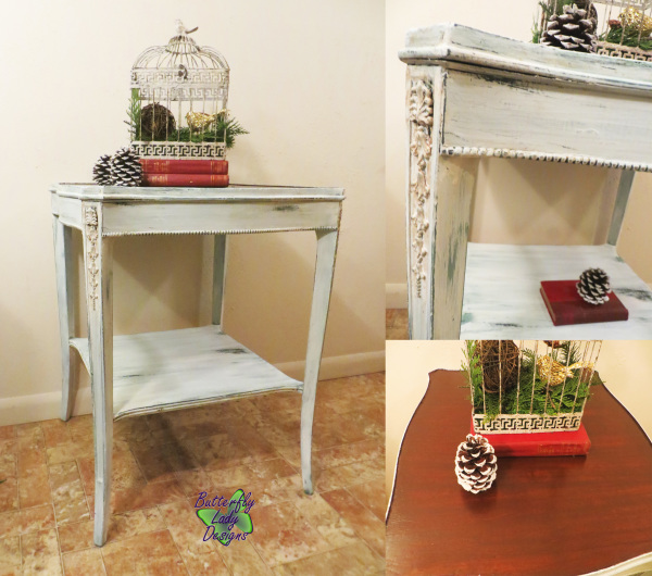 Chippy White End Table - SOLD