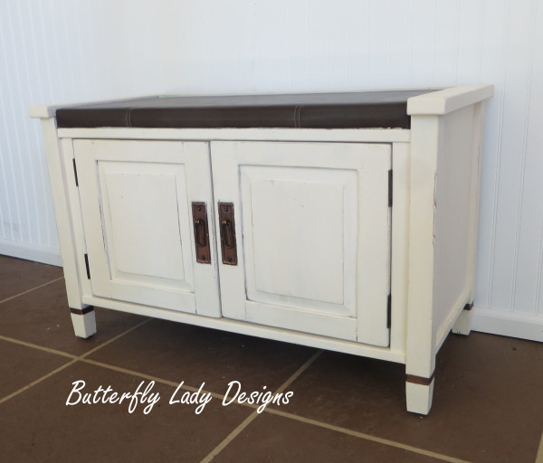Misson Style Entry Bench with Storage - SOLD