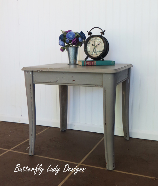 Chippy Grey End Table