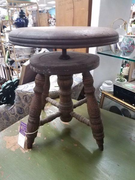 Antique Oak Piano Stool