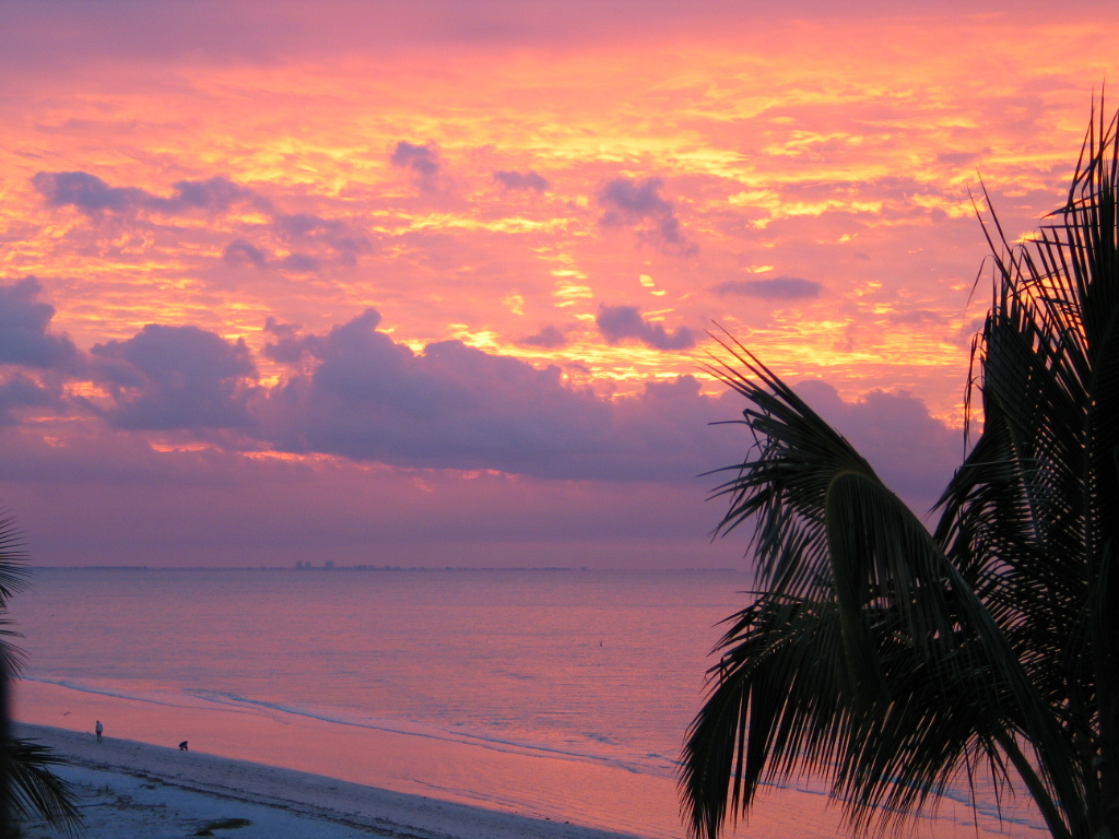 Sunrise viewed from your private sundeck
