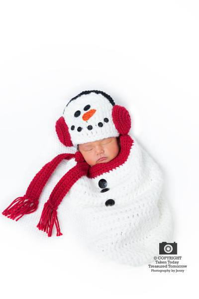 Baby Snowman Cocoon