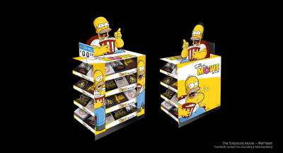 Simpson Movie Walmart Display