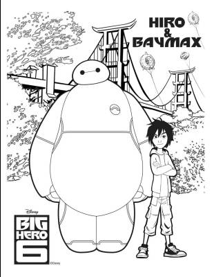 Big Hero 6 Coloring Art