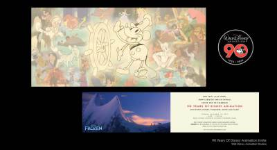 90 Years of Disney Animation Invite