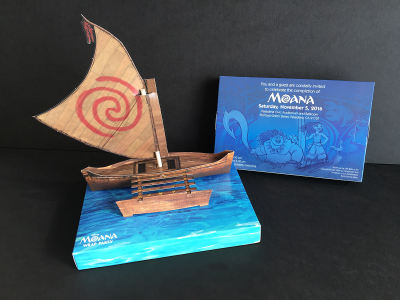 Moana Wrap Party Invite