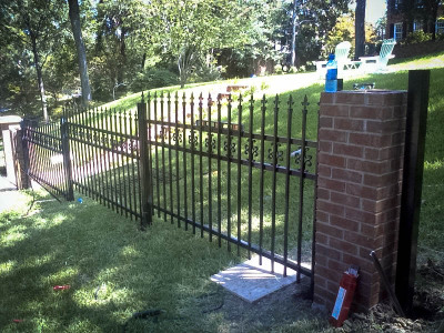 Custom Metal Fence (White Rock)