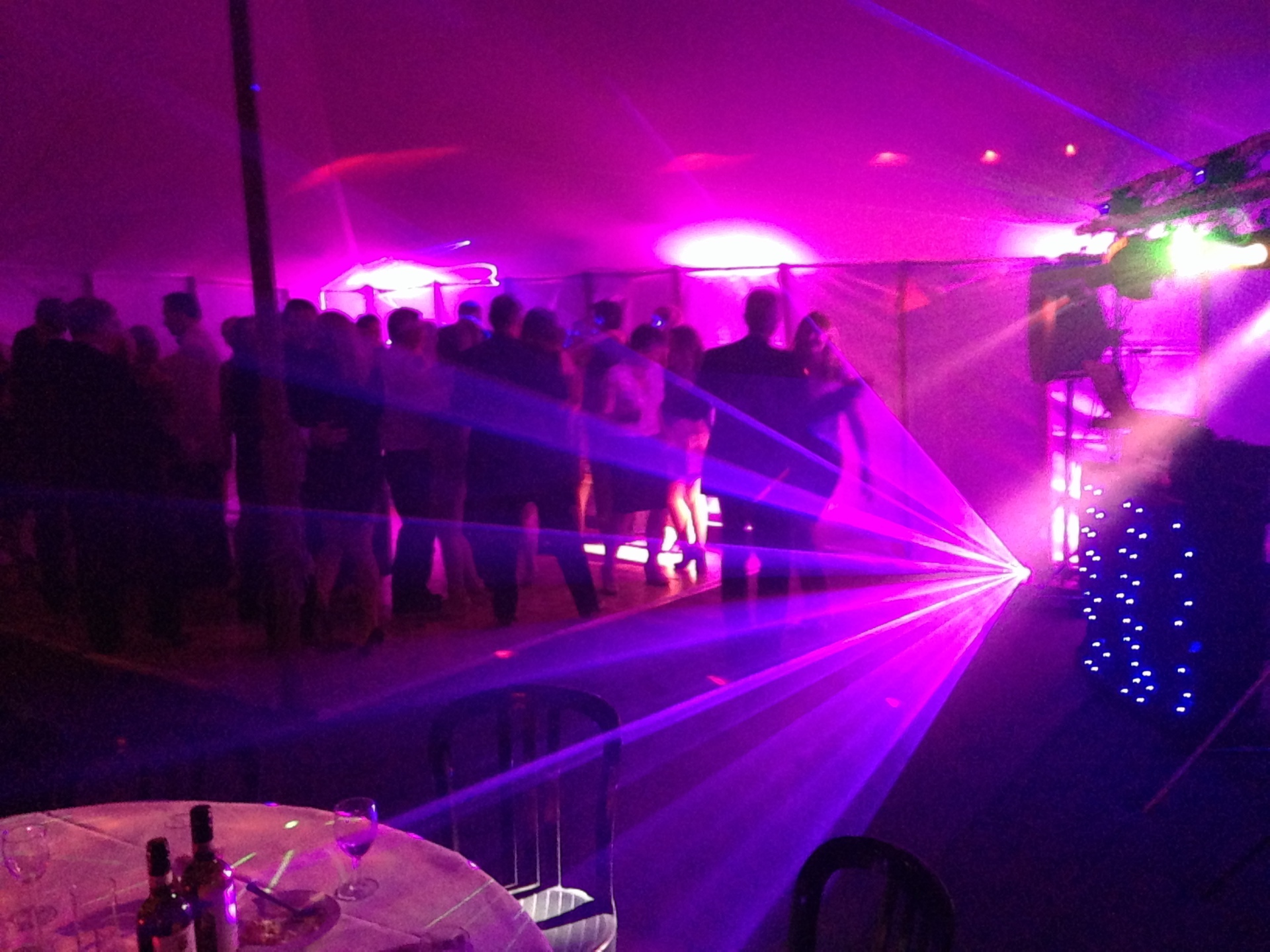 Marquee wedding disco gloucestershire