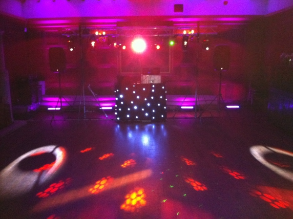 first dance mobile discos at Dumbleton Hall Evesham