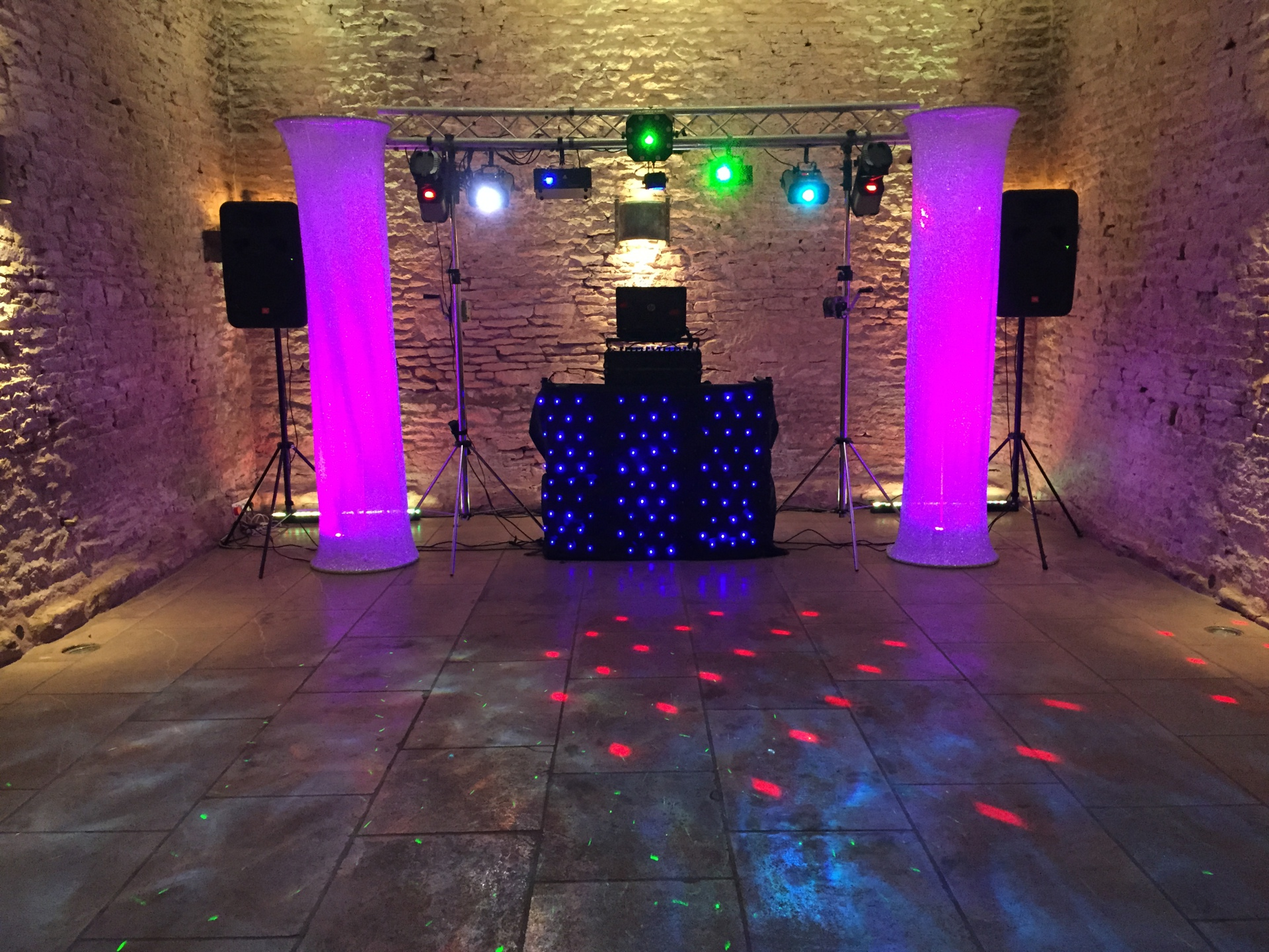disco for wedding in Cripps Stone Barn Cotswolds