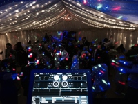 Mobile disco marquee wedding cheltenham