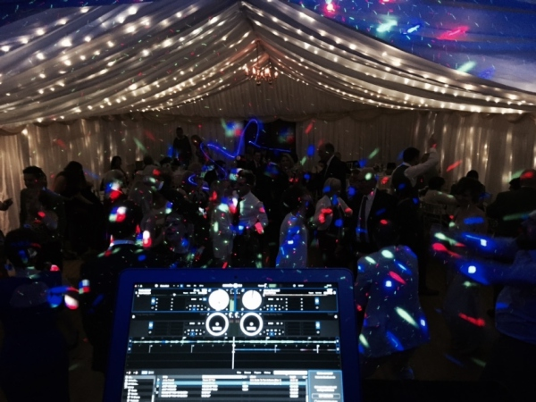 First Dance Mobile Disco Wedding Marquee Cotswolds