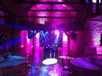 Kingscote barn mobile disco with laser lights first dance