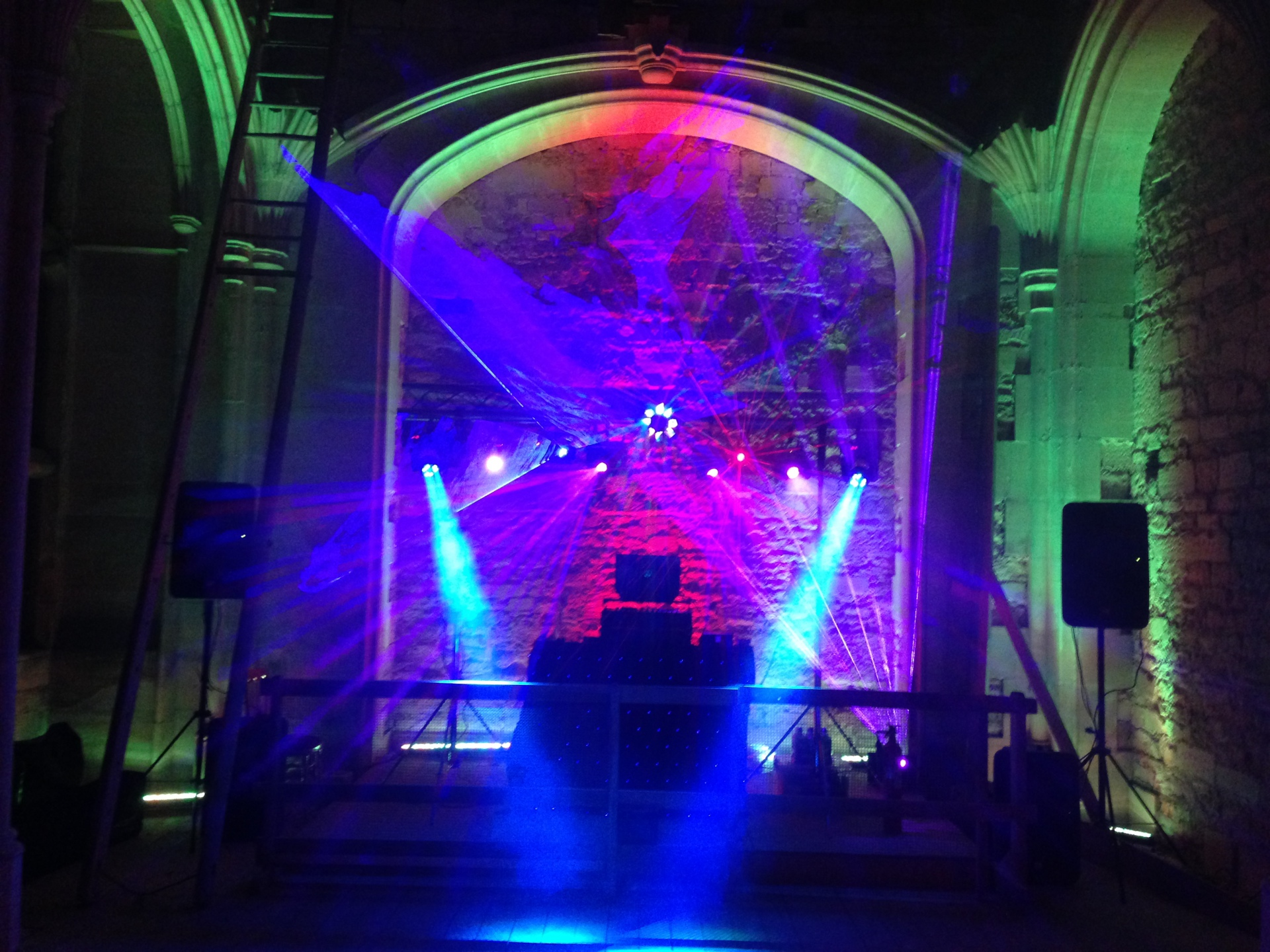 Woodchester Mansion mobile disco