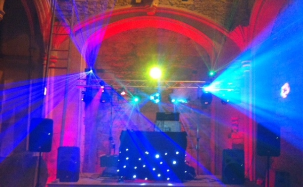 Mobile Disco at Woodchester Mansion near Stroud