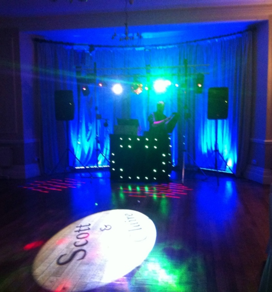 Eastington Park Stroud Disco first dance spotllight