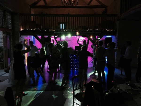 Wedding mobile disco Hyde Barn