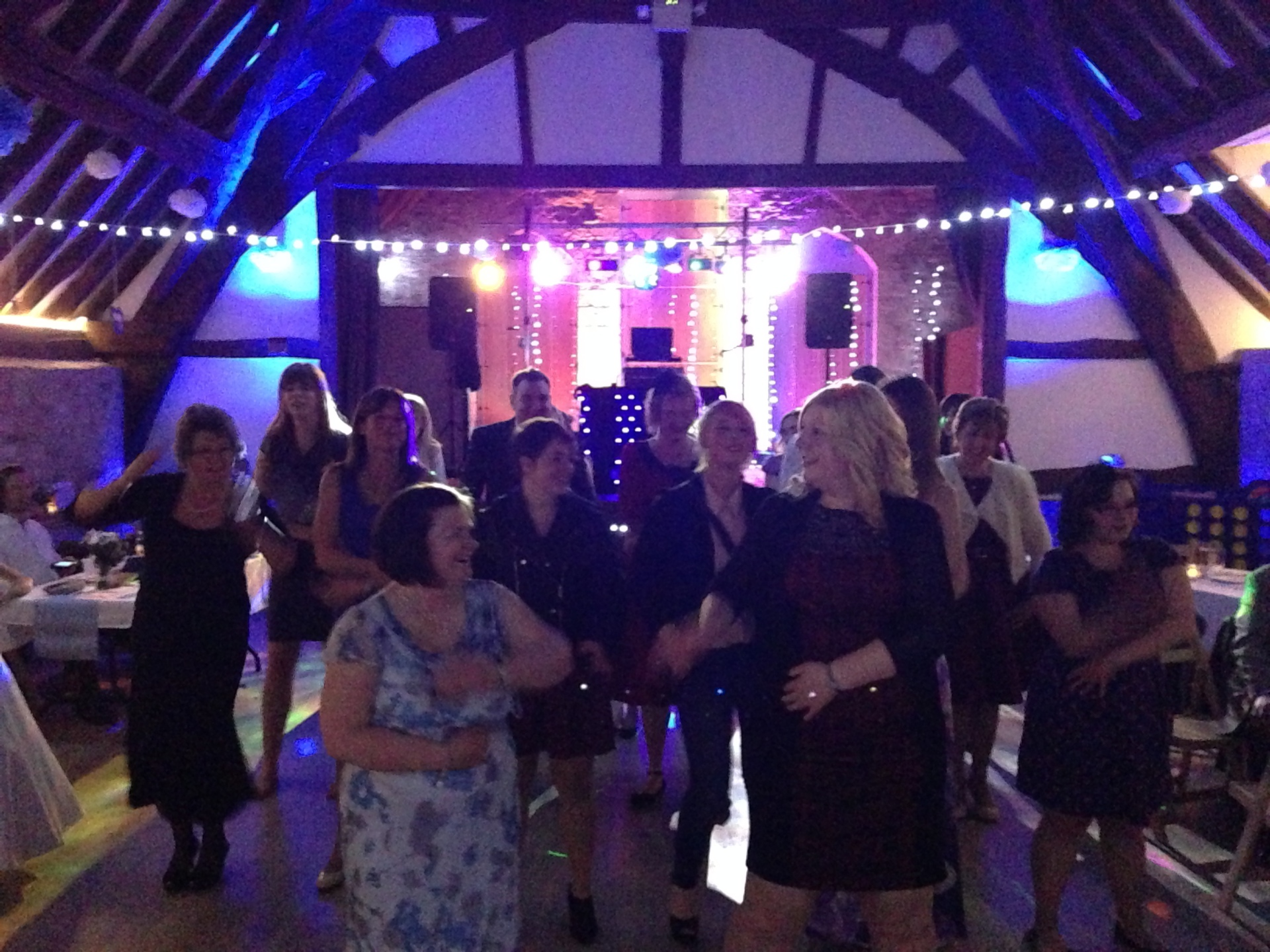 Tythe Barn mobile wedding disco Gloucestershire