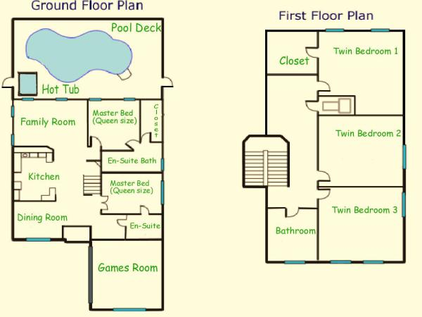 Emerald Villa layout map