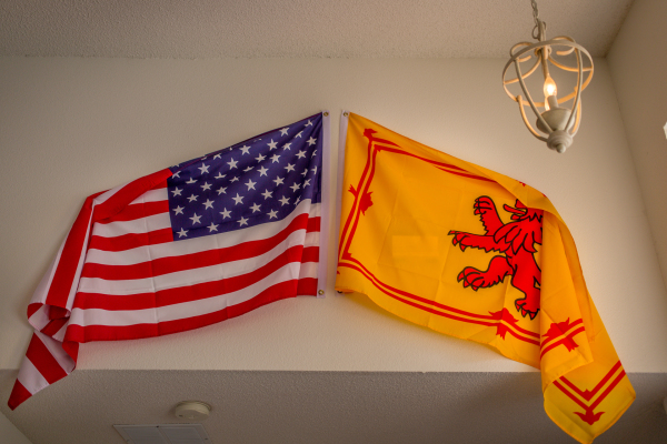 Our Scotland & USA flags