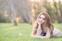 Clackamas High school senior girl at the Happy Valley Park in Oregon