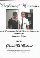 Sam Frattini - School Based Apprentice