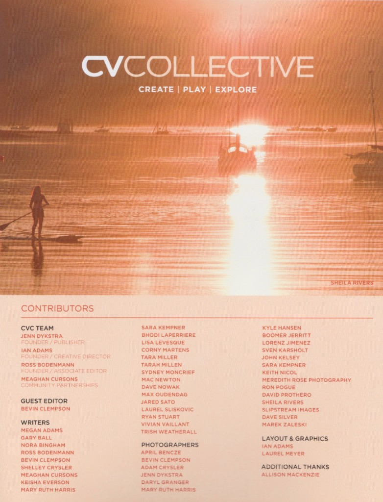 Contributor Page CVCOLLECTIVE Summer 2016 Issue