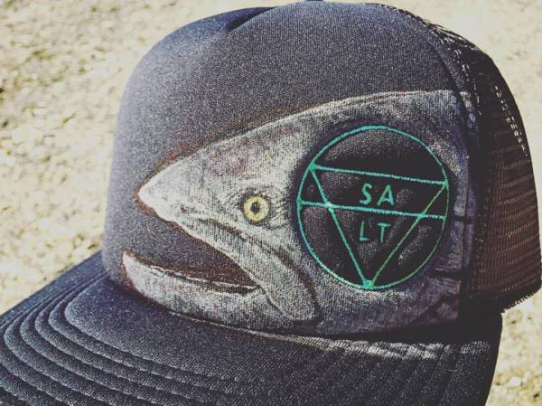 "CUSTOM ""Salmon"" on Black Hat"