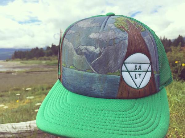 "CUSTOM ""Comox Glacial Lake"" on Green Hat"