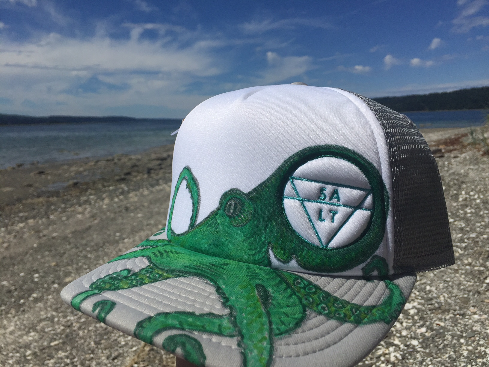 """Green Octopus"" on Green Hat"