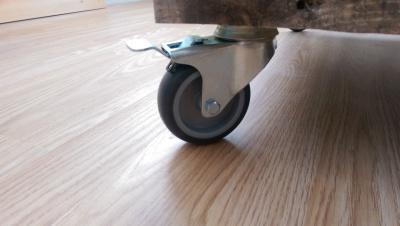 Steel castors for pallet coffee table.