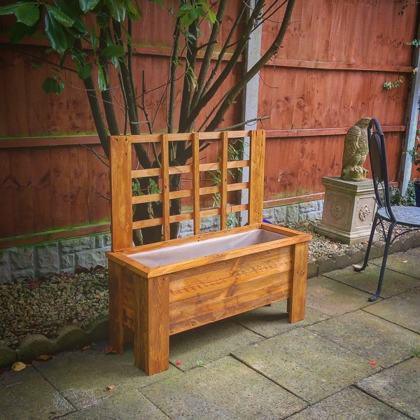 Garden planters made from recycled wood byLiverpool Pallet Designs
