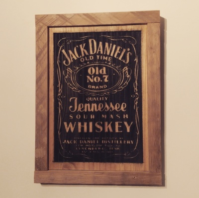 Jack Daniels solid wood wall art