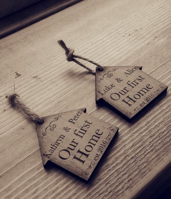 Our first Home personalised keyrings for couples personalised gift