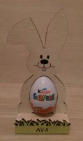 Easter egg holder, hand painted laser cut personalised childrens Easter gift present
