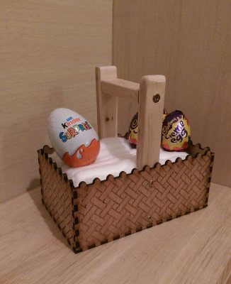 Easter egg personalised Easter basket holder, hand painted laser cut personalised childrens Easter gift present
