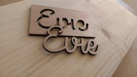 Laser cut name samples
