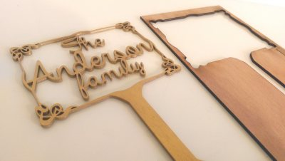 Gold table name stand - The Anderson Family