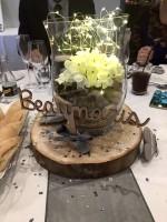 Wedding table custom centre piece.