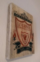 Liverpool football club wooden plaque