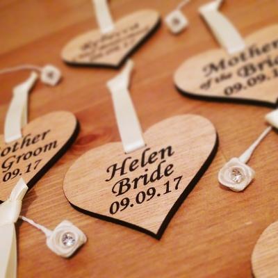 Bespoke hand finished hanger hearts.