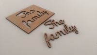 Laser cut place names