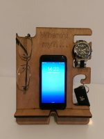 Phone watch keys glasses wallet tablet holder docking charging station