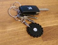 Keys and slimming counter keyring.